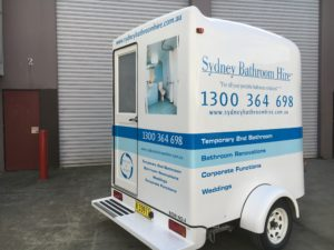 Bright new vibrant decals for Sydney Bathroom Hire.