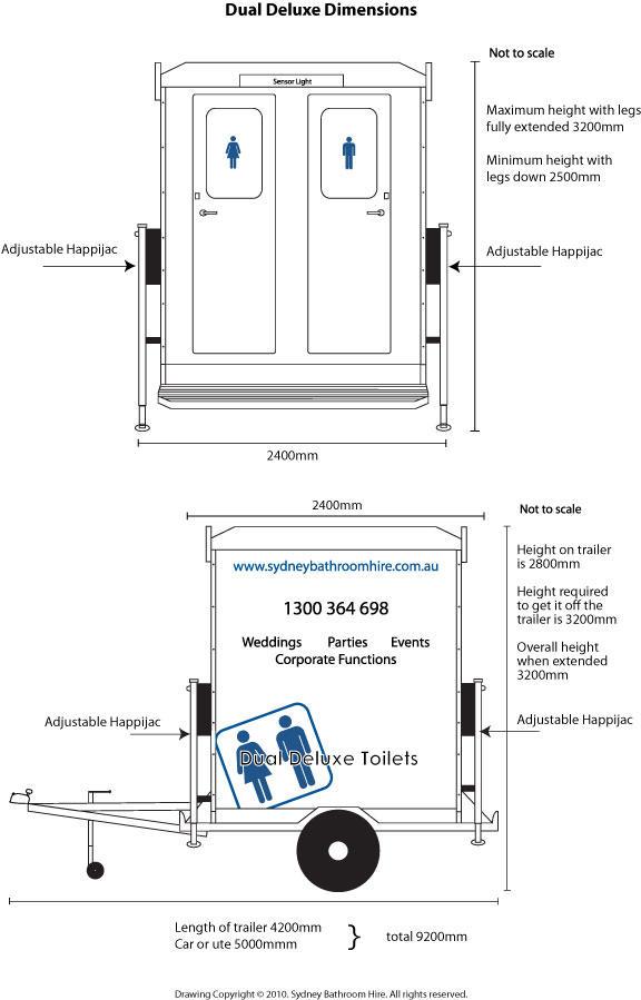 Specifications of Dual Deluxe Toilets