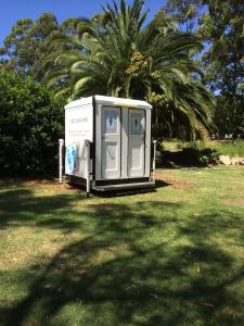 Dual Toilet Unit at a Wedding