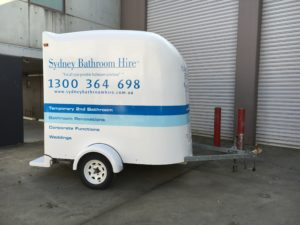 Portable Bathroom to hire for a Renovation.